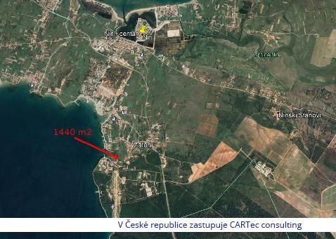 NIN / ZATON - Stavební pozemek - 20 m od moře