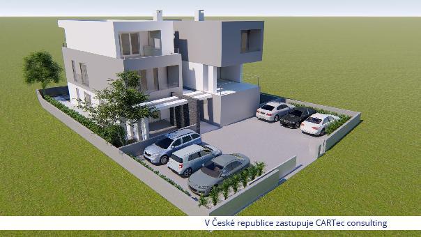 NIN/ZATON - Prodej luxusního apartmánu se zahradou - Novostavba - 300 m od moře - NOVINKA!