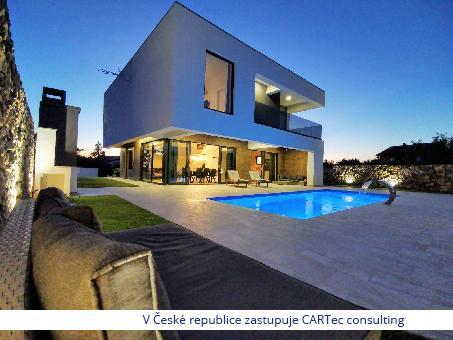 VRSI - Prodej luxusní vily s bazénem - 1200 m od moře
