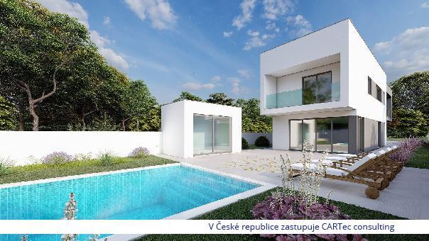 NIN / ZATON - Prodej luxusní vily s bazénem - 1500 m od moře