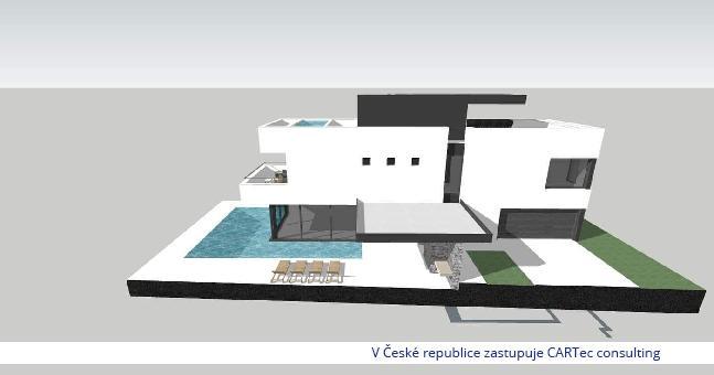VRSI / MULO - Prodej moderní vily s bazénem - 170 m od moře