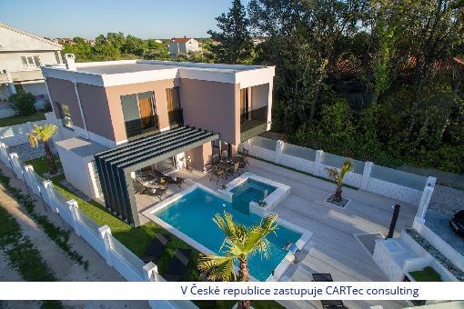 NIN / ZATON - Prodej luxusní zařízené vily s pozemkem - 200 m od moře