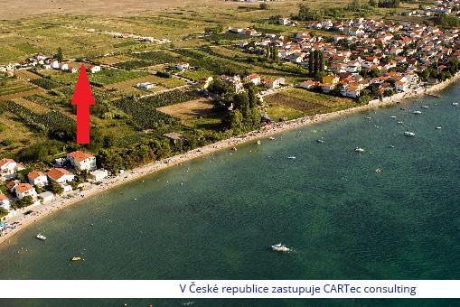 VRSI / ZUKVE - Prodej stavebního pozemku s výhledem na moře - 250 m od pláže