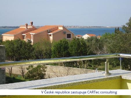 VRSI / MULO - Prodej apartmánu s terasou a 2 ložnicemi - 800 m od moře