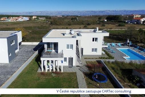 NIN/ZATON - Vila se 4 apartmány a společným bazénem