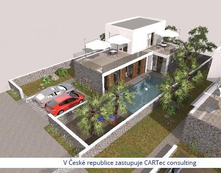 NIN/ZATON - Prodej stavební parcely s projektem na 2 vily s bazénem