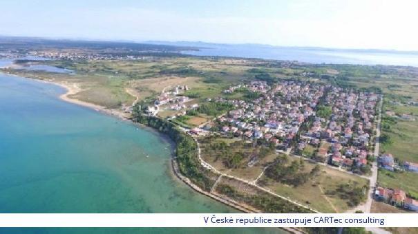 PRIVLAKA  / SABUNIKE - Prodej stavebního pozemku - 350 m od moře