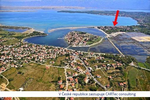 NIN / ŽDRIJAC - Prodej tří stavebních pozemků - 150 m od moře