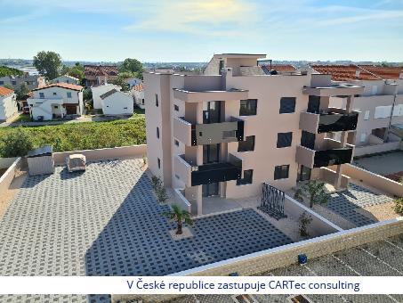 NIN / ŽDRIJAC - Prodej apartmánů s výhledem na moře -  novostavba - 100 m od pláže
