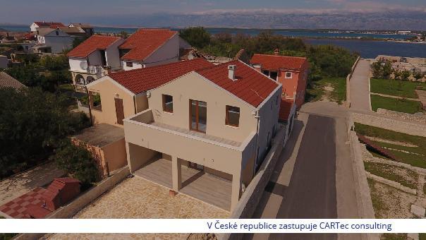 NIN / Centrum - Prodej novostavby rodinného domu v těsné blízkosti centra Ninu - 100 m od moře a pláže