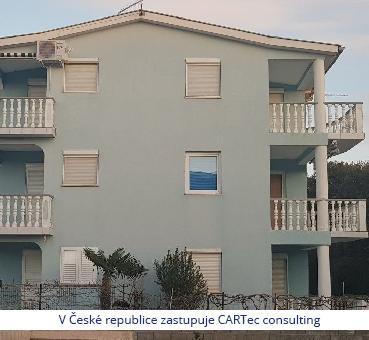 NIN/ZATON - Prodej podkrovního apartmánu s terasou - 200 m od moře