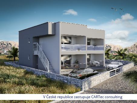 VIR - Prodej apartmánů v novostavbě moderního domu na pobřeží
