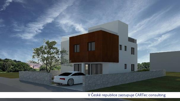 Nin/Zaton - Prodej stavební pozemku s projektem stavby moderní vily