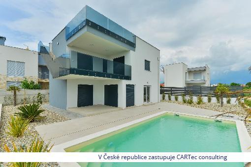 PRIVLAKA - Prodej moderní vily  s výhledem na moře - 200 m od pláže