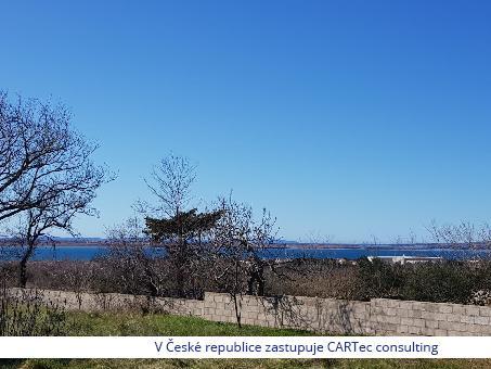 VRSI - Prodej stavebního pozemku s výhledem na Ninský záliv - 2300 m od moře