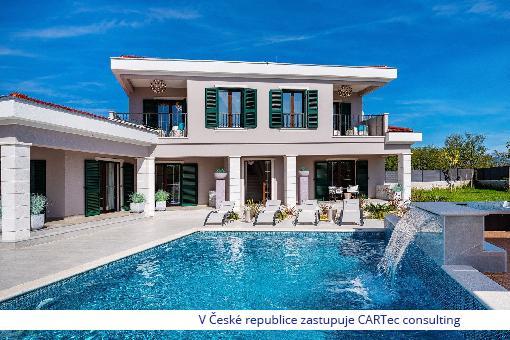 NIN/ZATON - Prodej luxusní vily s bazénem v mediteránském stylu