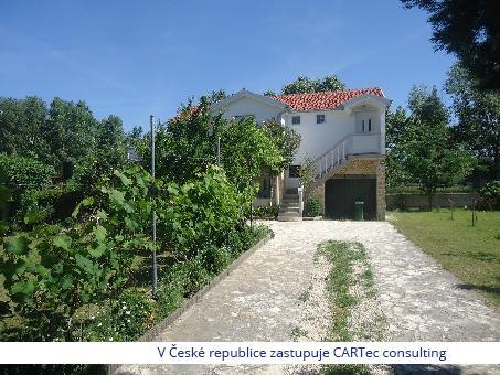 VRSI / ZUKVE  - Prodej rekreačního domu se zahradou a krásným výhledem na moře - 300 m od pláže