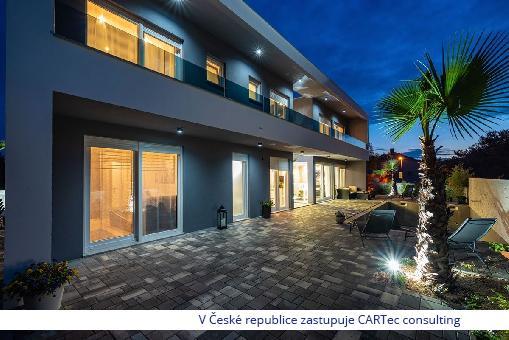 NIN / ZATON - Prodej luxusního rekreačního domu s bazénem - 1100 m od moře